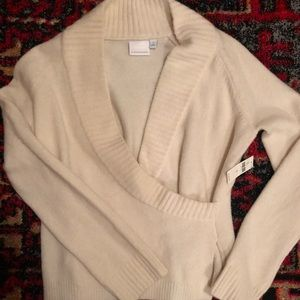 NWT Anthropologie Faux Wrap Sweater